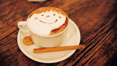 обои кофе
