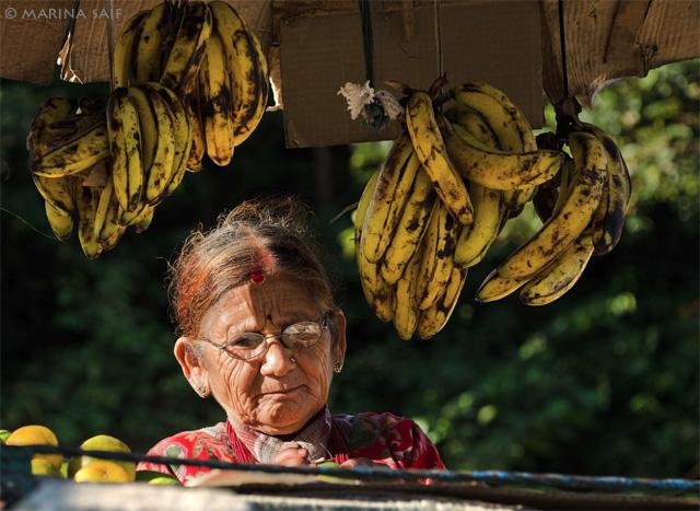 Непал, портрет торговки