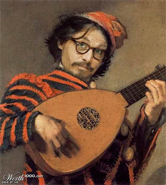 джонни депп живопись портрет