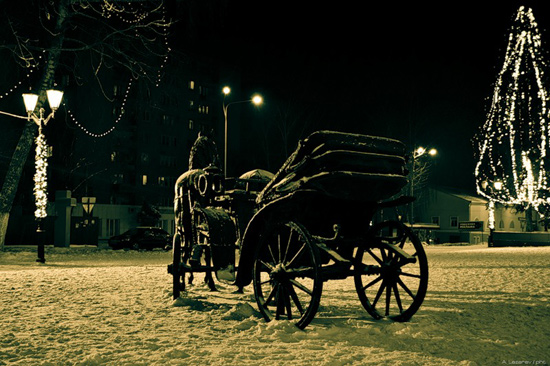 фото курск ночь зима