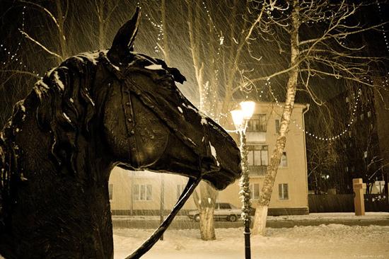 фото курск зима ночь