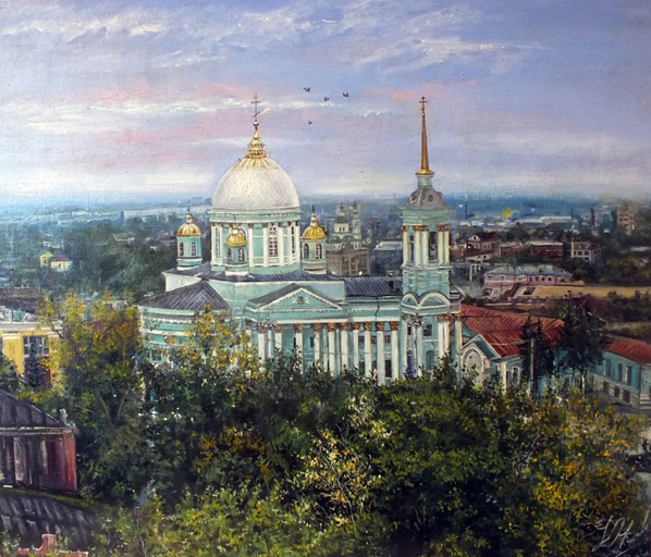 Курск, Знаменский собор, художник Юлия Амаги