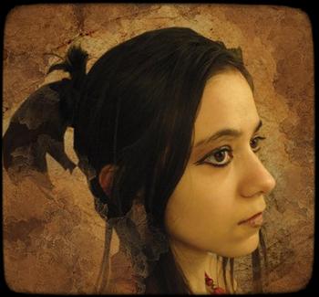 портрет художницы Vincik