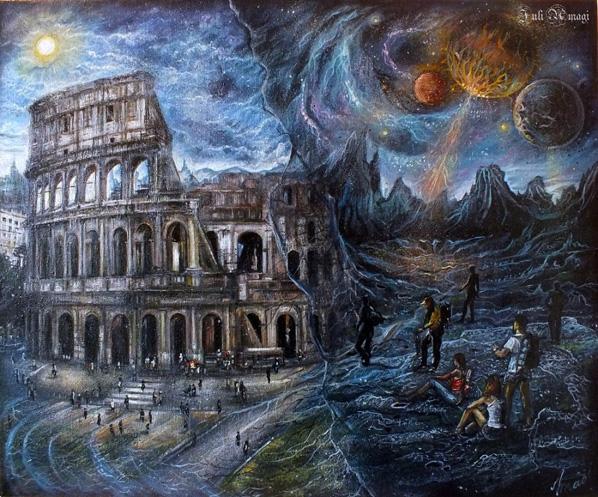 фантастическая картина, художница Юлия Амаги