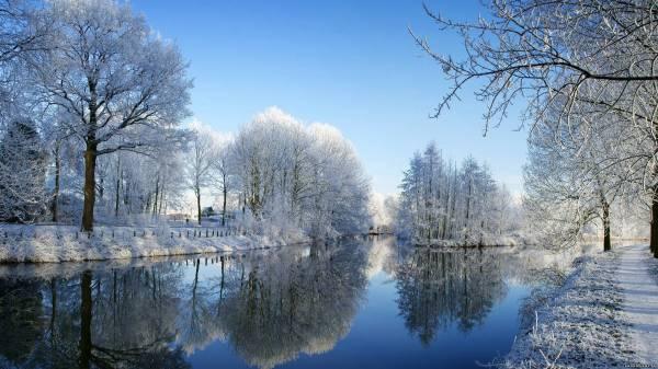 Обои hd зима:
