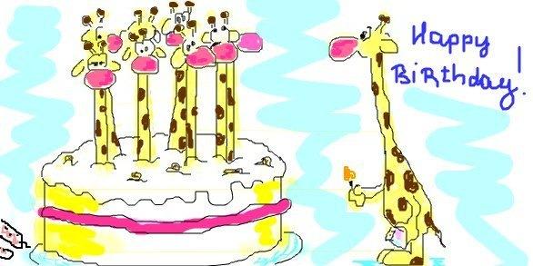 Открытки с днём рождения жираф 20