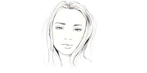 Портрет девушки рисунок