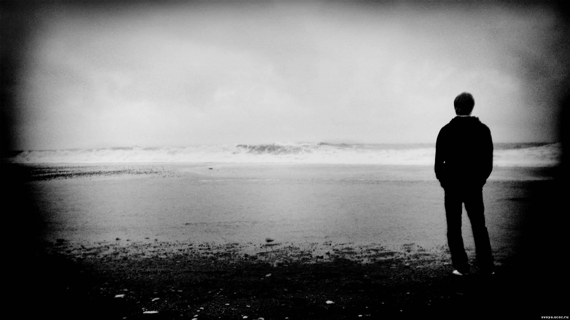 черно белые фото грустные