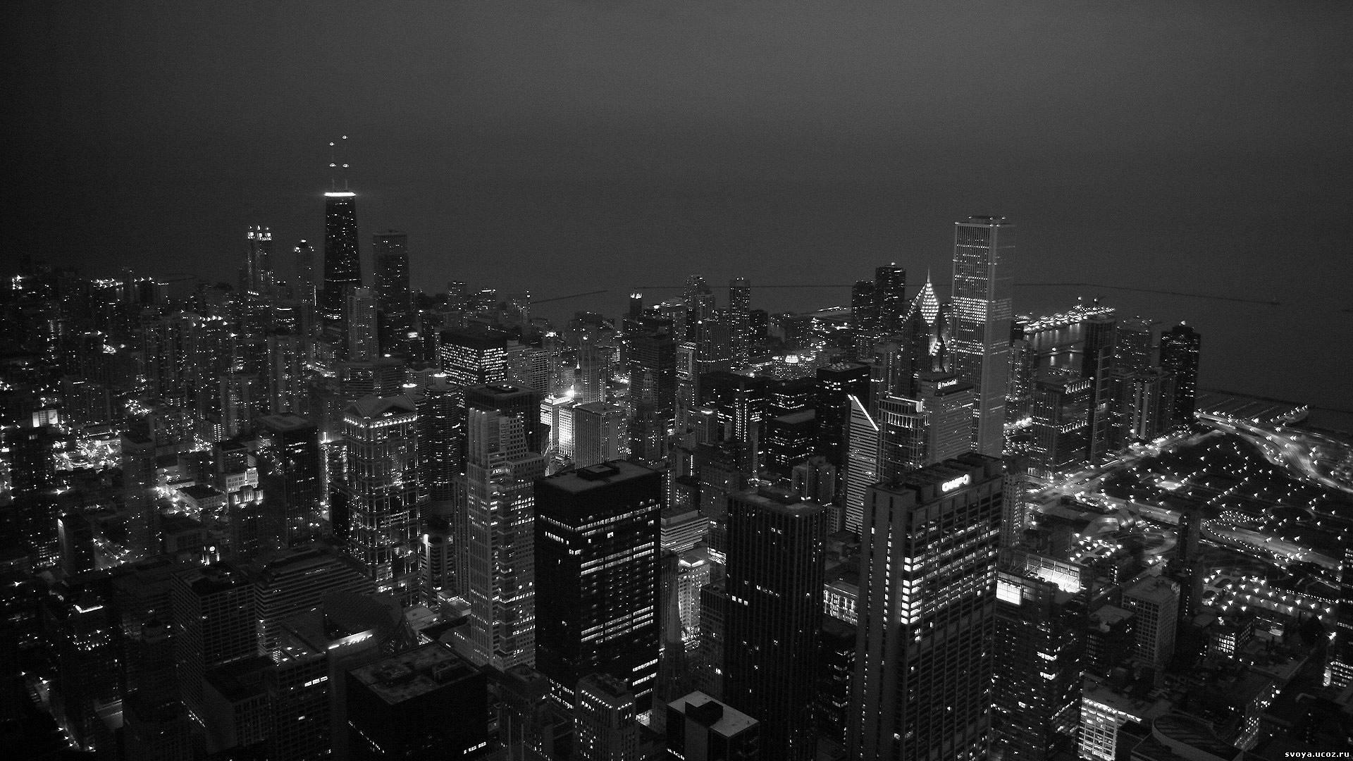 фото ночной мегаполис