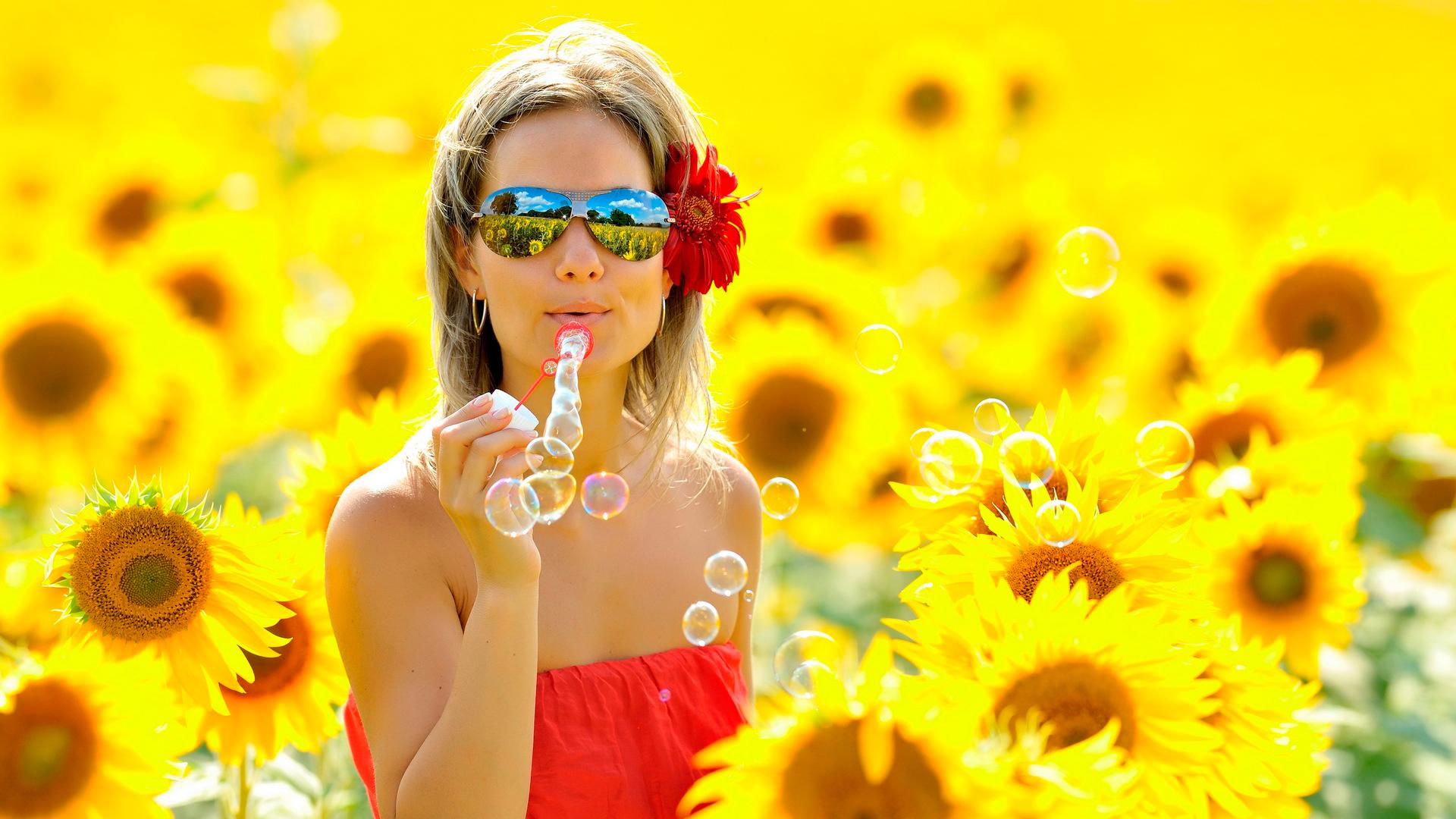 фото девушки солнечных в очках