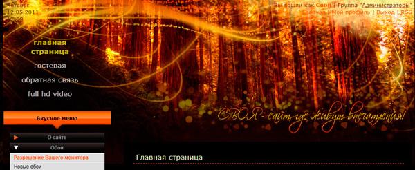 оранжевый лес