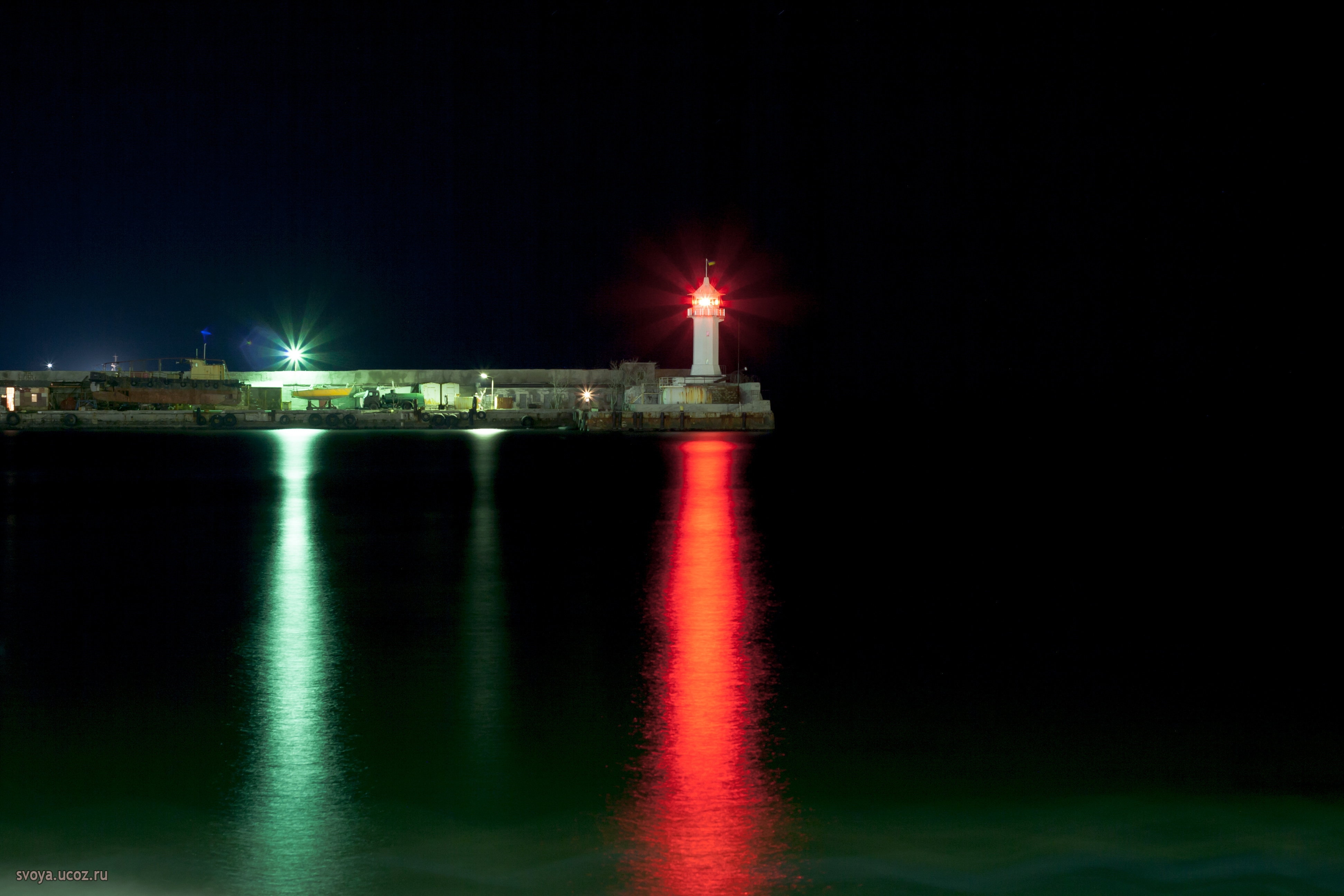 Ялта маяк ночью, hd фото